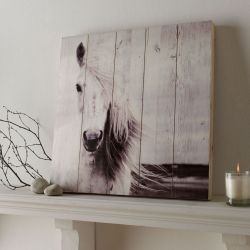 Art for the home Holzbild Horse wood