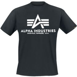 Alpha Industries Basic T Shirt Schwarz M