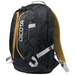 Dicota Backpack ACTIVE 14 15.6 schwarz gelb