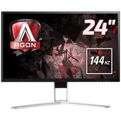 AOC AGON AG241QX Gaming LED Monitor (2560 x 1440 Pixel QHD 1 ms Reaktionszeit 144 Hz)