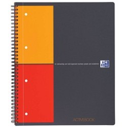 Oxford Collegeblock Activebook 100104329 A4 kariert 80g 80 Blatt 4 fach Lochung mit Register
