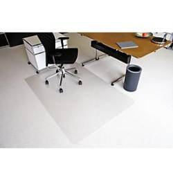 RS Office Products Bodenschutzmatte Ecoblue 120 x 200 cm Form O für Teppichböden transparent PET