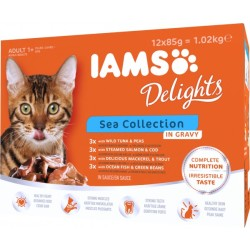 IAMS Delights Adult in Sauce 12 x 85 g Sea Mix
