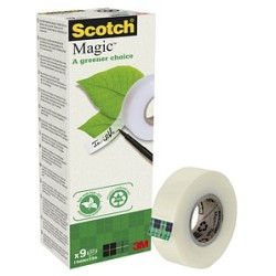 (0 06 EUR 1 m) Scotch Klebeband Magic 900 19mm x 33m 9 Rollen
